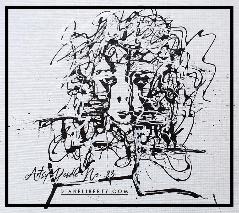 """Artsy Doodle No. 23"" by Diane Liberty"