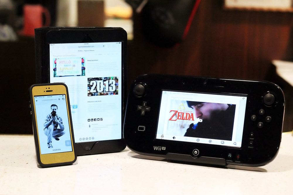 Raymond Strazdas Portfolio fully optimized for mobile devices (Including Wii U Gamepad)