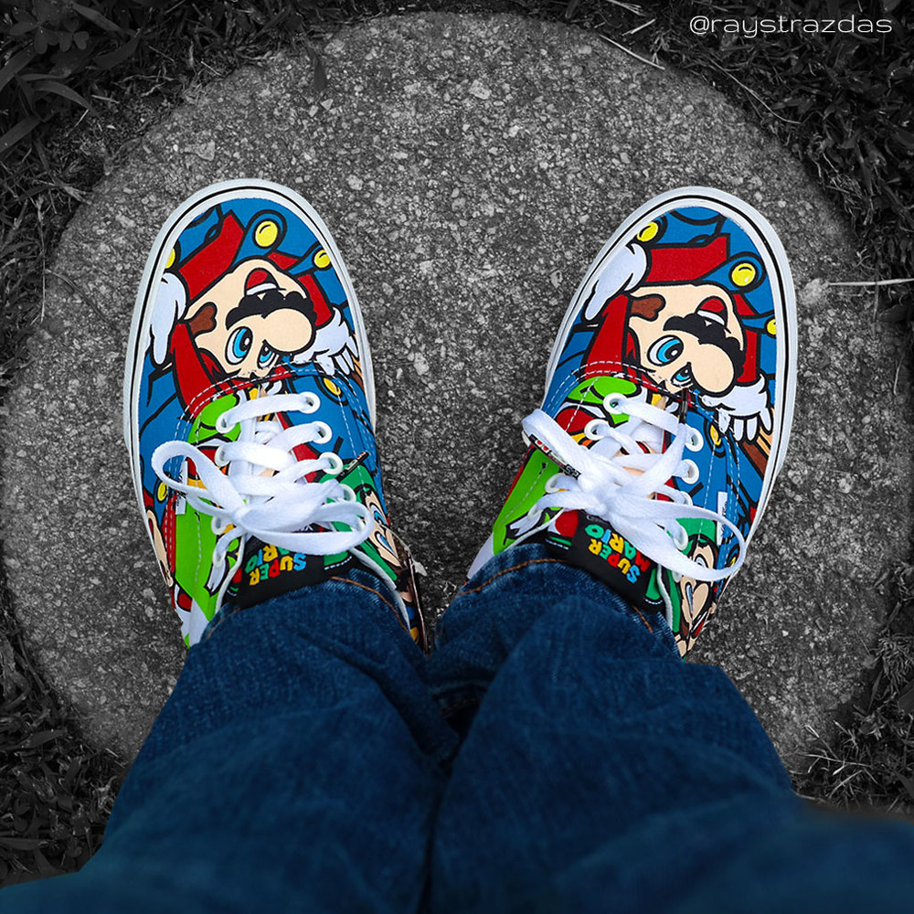Nintendo and Vans Era Mario and Friends Skate Shoe