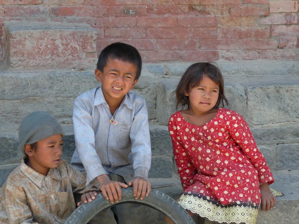 Les enfants népalais sont très attachants