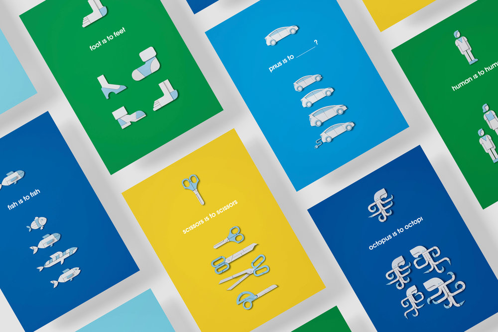 'Prius is Plural' poster series  Created with Hunter Gatherer