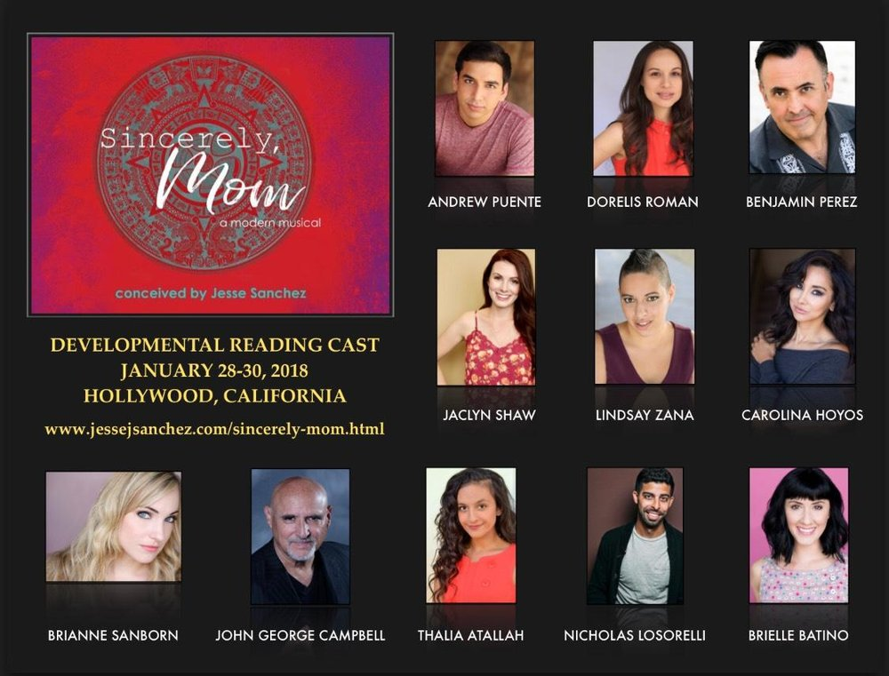 The LA Developmental Reading cast of Sincerely, Mom - Jesse Sanchez