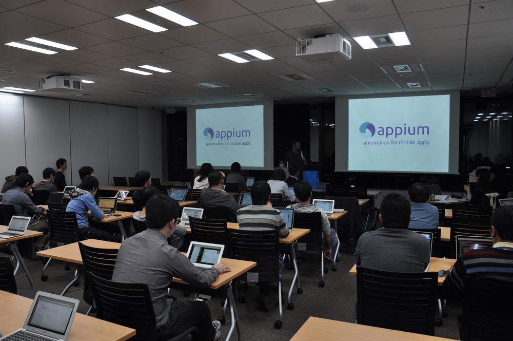 期待のプロジェクト、appium!