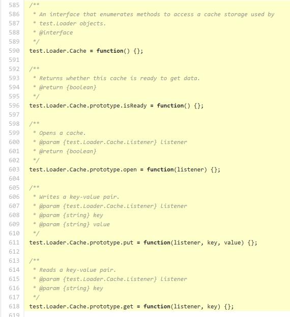 図7 test.Cacheインターフェース