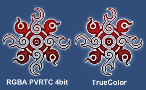 Fig.19 透過画像をPVRTC形式にした場合