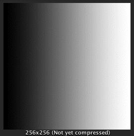 Fig.22 RGB16bitにディザをかけた場合のグラデーション表示