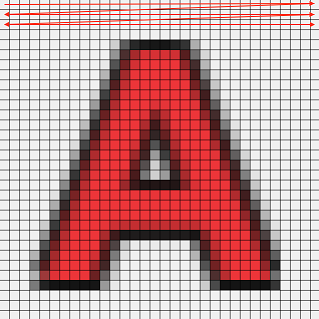 Fig.9 画像AのTrueColorの場合のメモリレイアウト