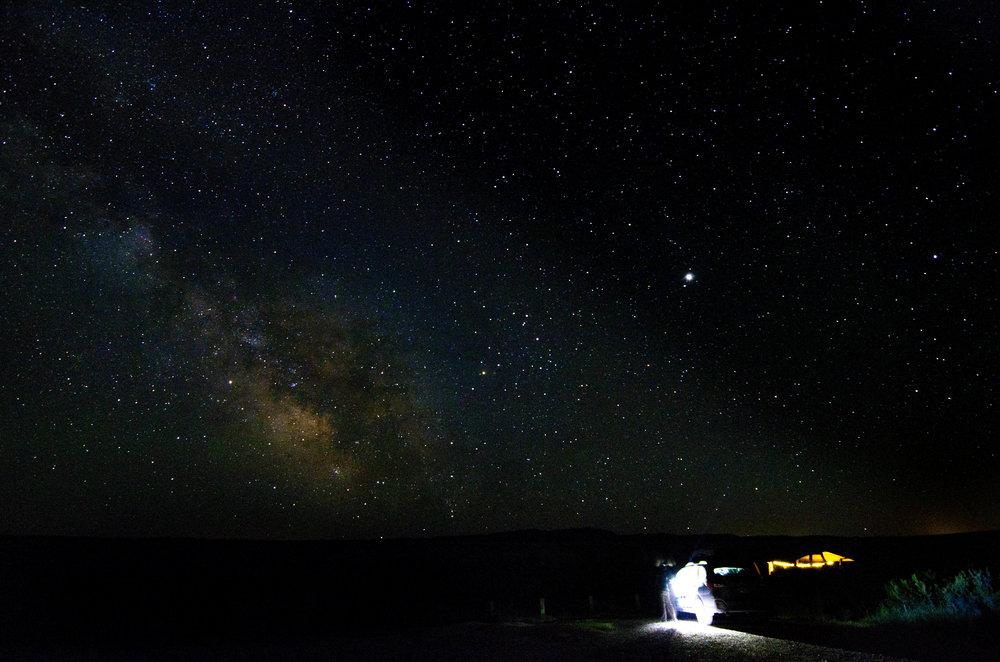 Milky Way over Wyoming