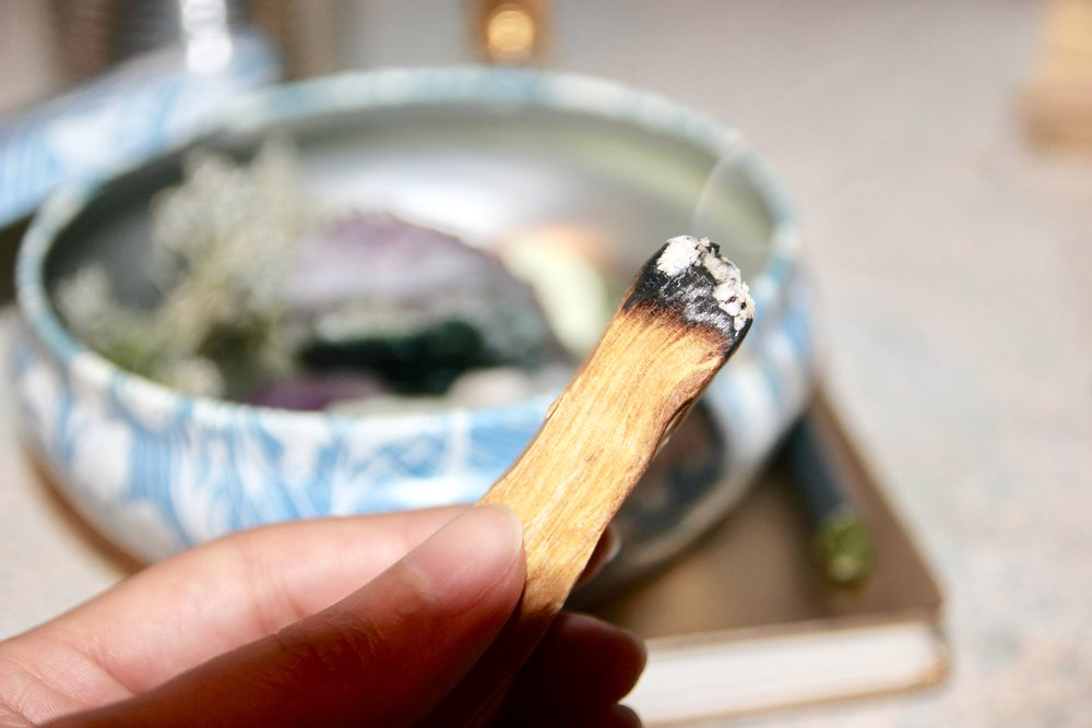 Palo Santo for energy clearing.
