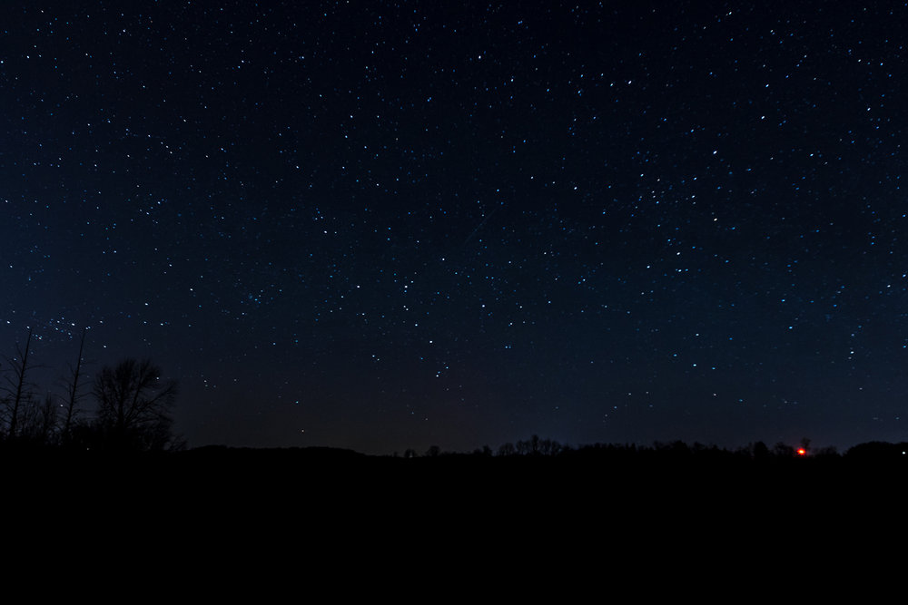 The farms around Cazenovia offer excellent dark skies.