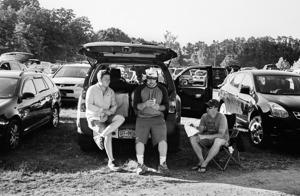 Pre-show tailgating.