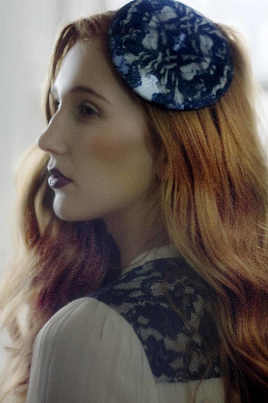Lace Print Hat