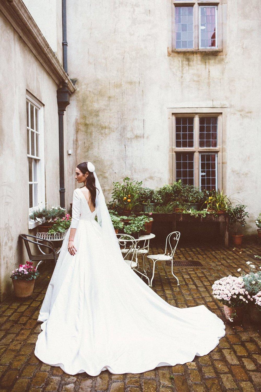 Custom Bridal Calotte & Veil