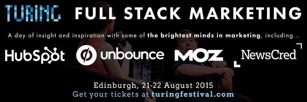 Full Stack Marketing at Turing Festival
