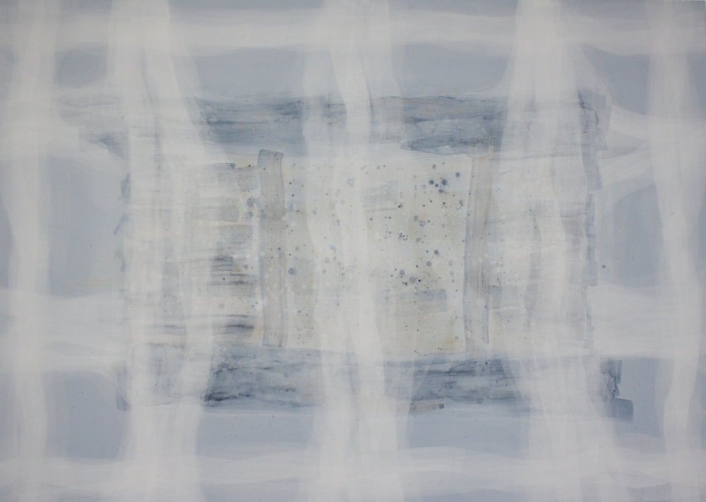 """límites"" 100 x 140 cm. acrílico en lienzo."