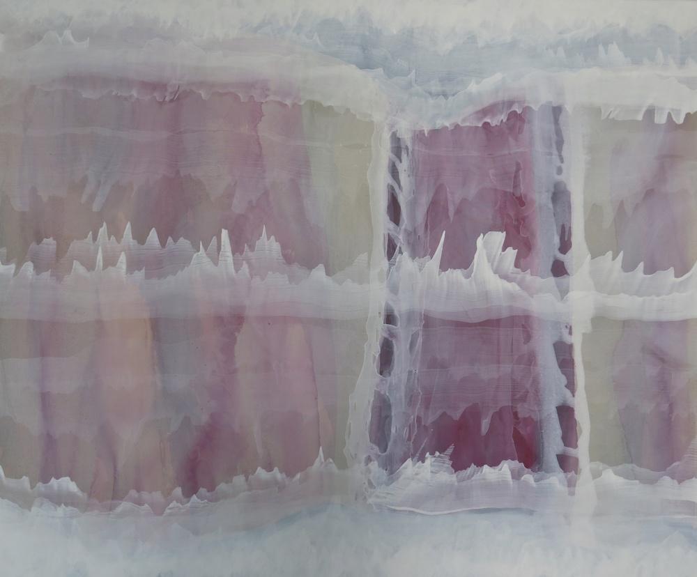 """""""paseo de invierno""""140 x 100 cm. acrílico en lienzo."""