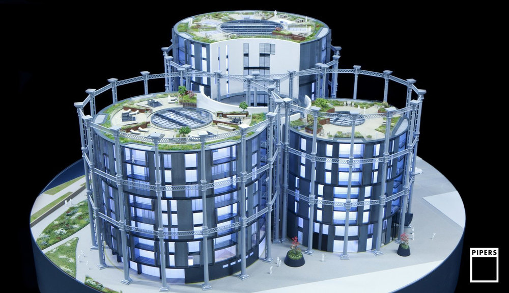 GASHOLDERS, KING'S CROSS - ARGENT - 1:75 SCALE