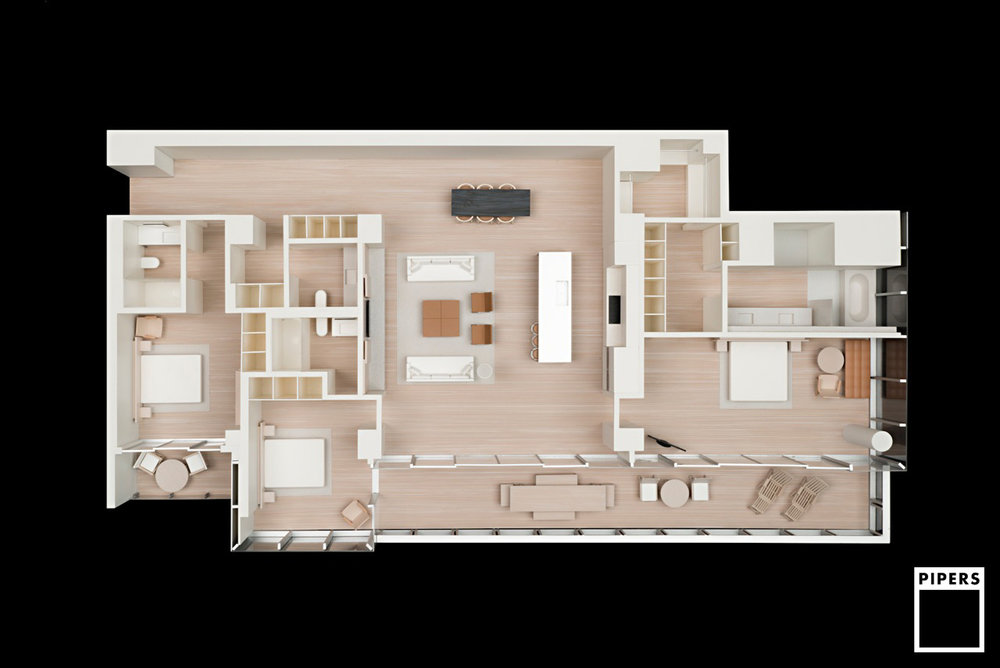 MIAMI APARTMENTS - JOHN PAWSON ARCHITECTS - 1:25 SCALE