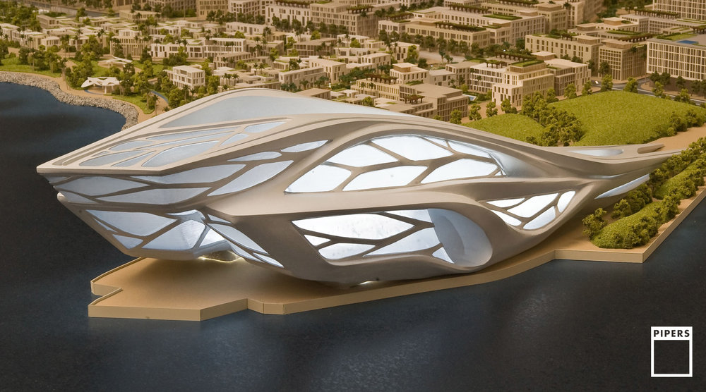 SAADIYAT PERFORMING ARTS CENTRE, ABU DHABI - ZAHA HADID ARCHITECTS - 1:500 SCALE
