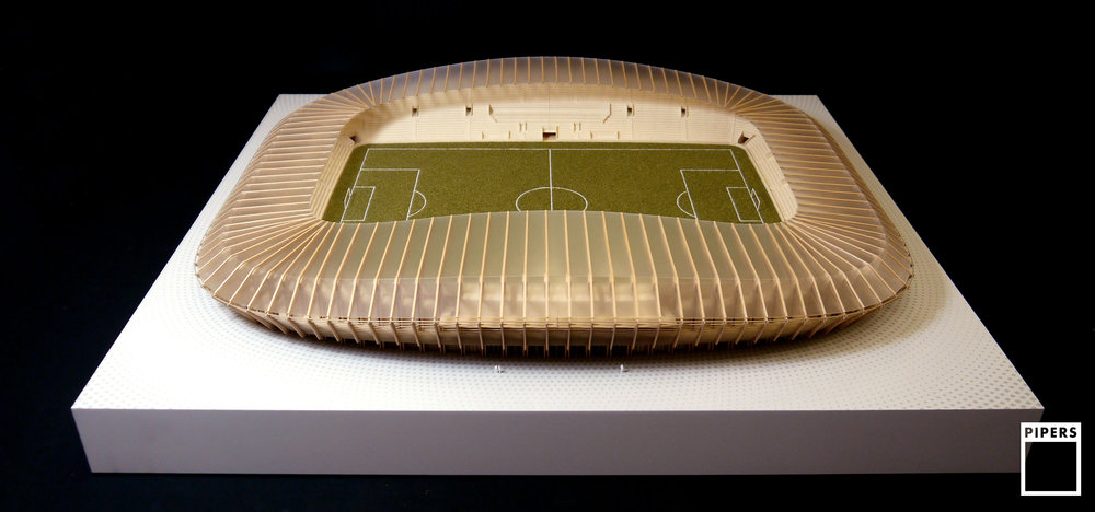 FOREST GREEN STADIUM, NAILSWORTH - ZAHA HADID ARCHITECTS - 1:200 SCALE