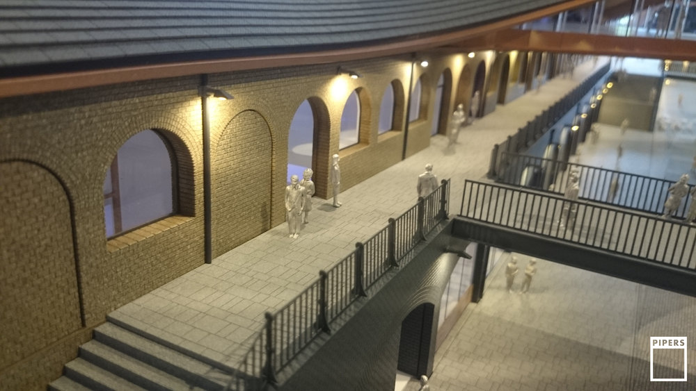 coal drops yard king's cross architecture model