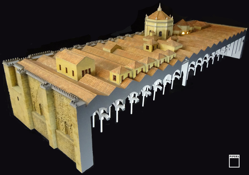 MOSQUE - CATHEDRAL OF CORDOBA. 1:50 SCALE SECTION MODEL
