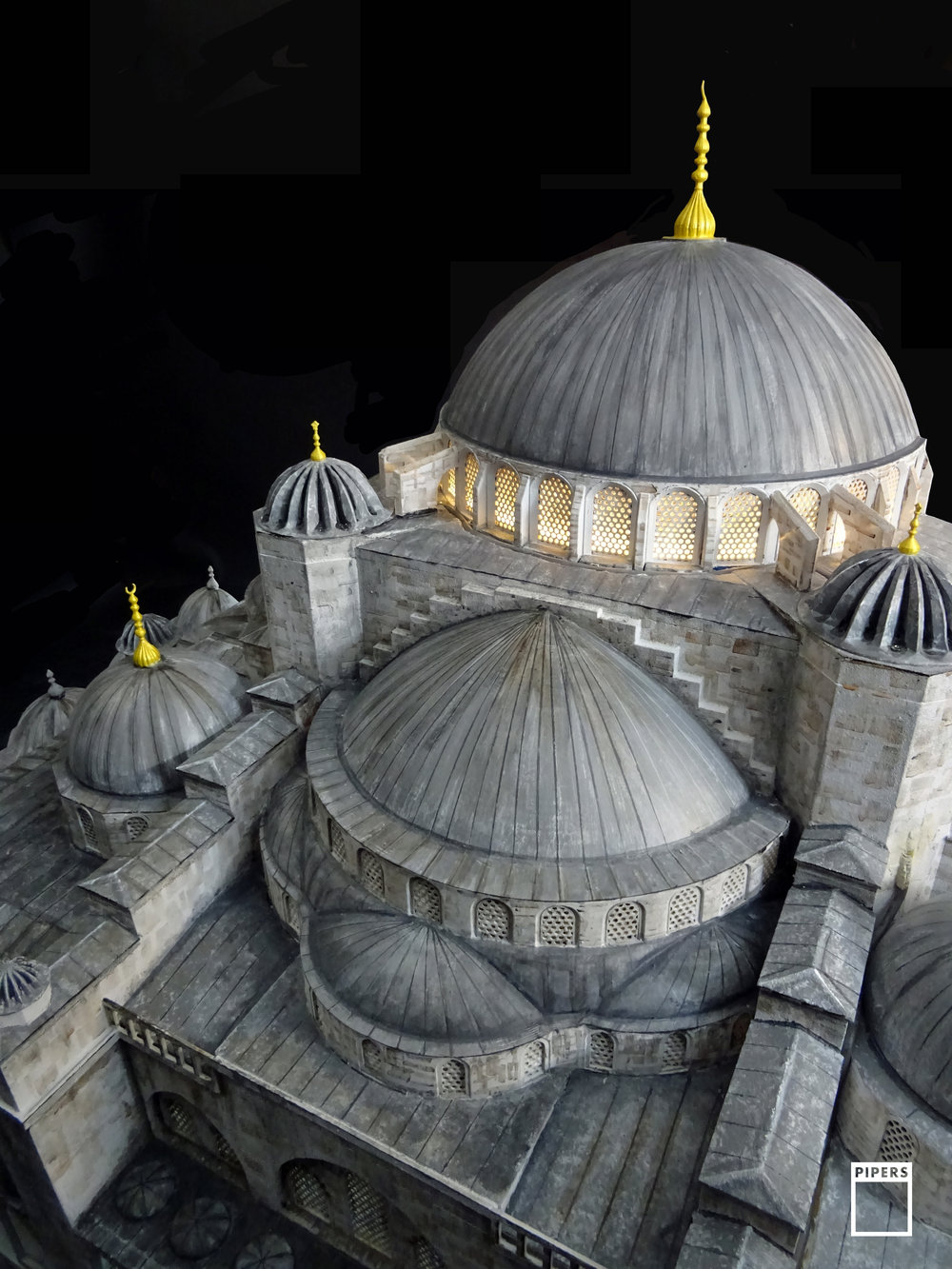 BLUE MOSQUE, ISTAMBUL. 1:50 SCALE SECTION MODEL