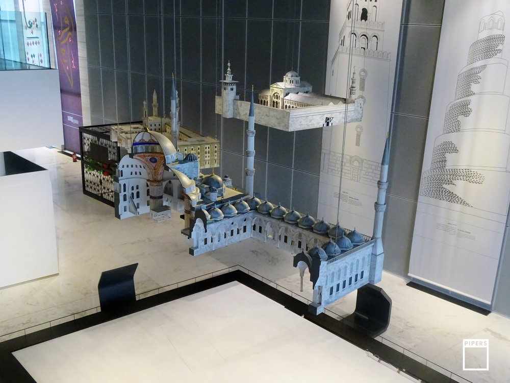 architectural model of mosques