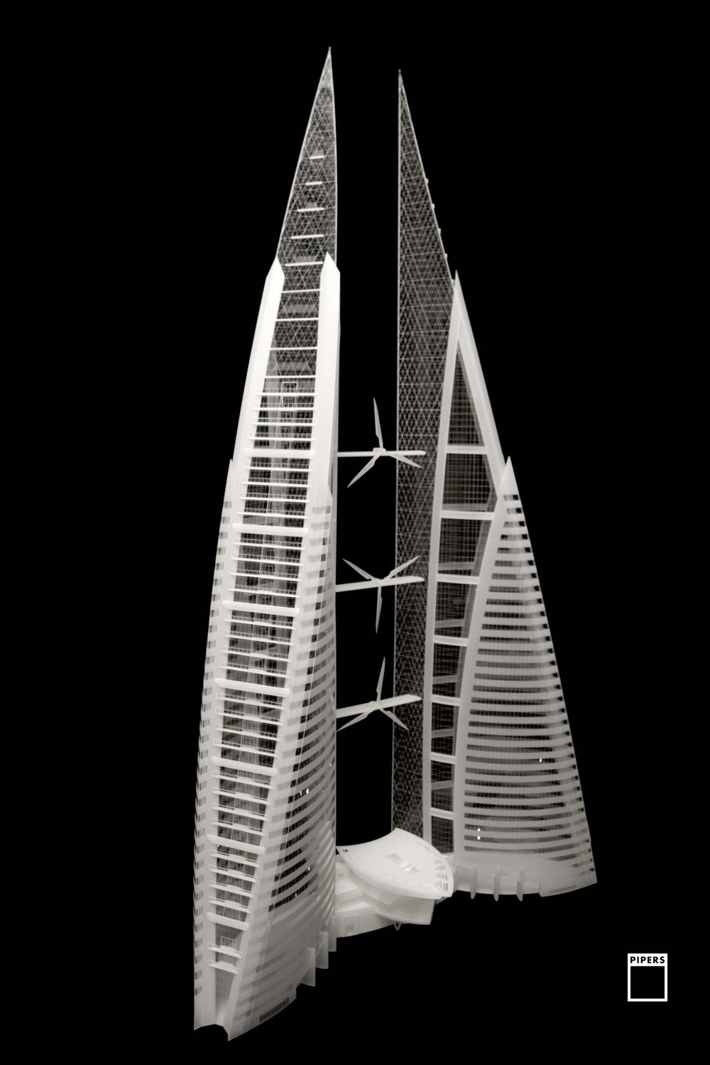 BAHRAIN WORLD TRADE CENTRE - ATKINS - 1:200