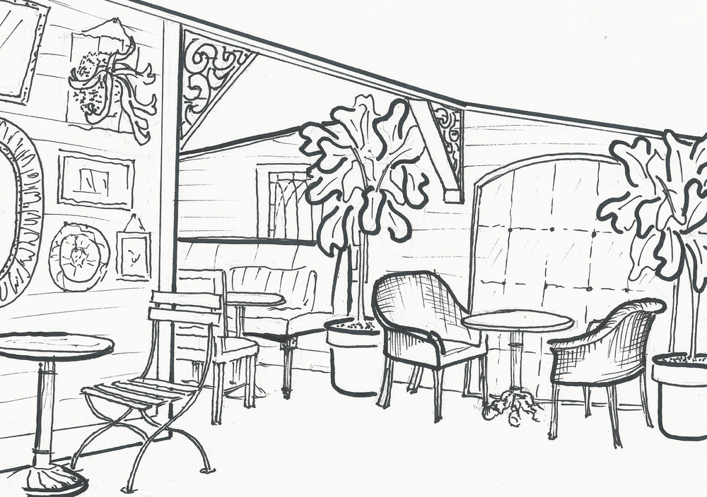 SKETCH OF CONSERVATORY