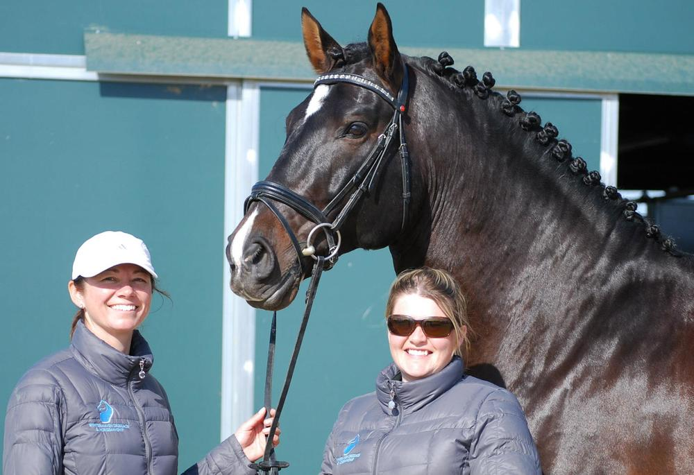 Eva, Susan and the PRE Stallion, Kamiakin