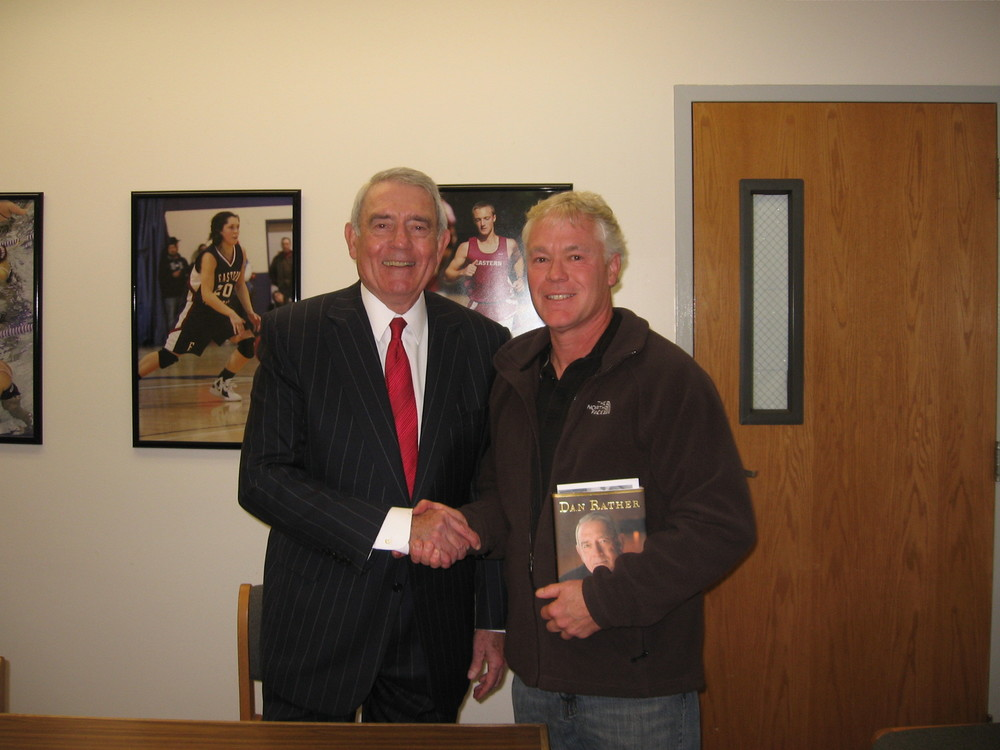 Edwin O. Smith Teacher Tim Bowen with Dan Rather