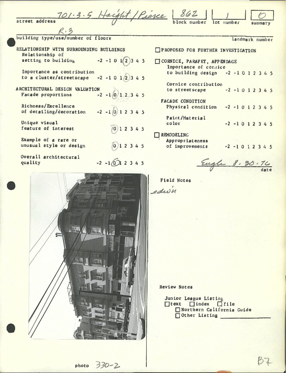 DCP 1976 Land Review Notes