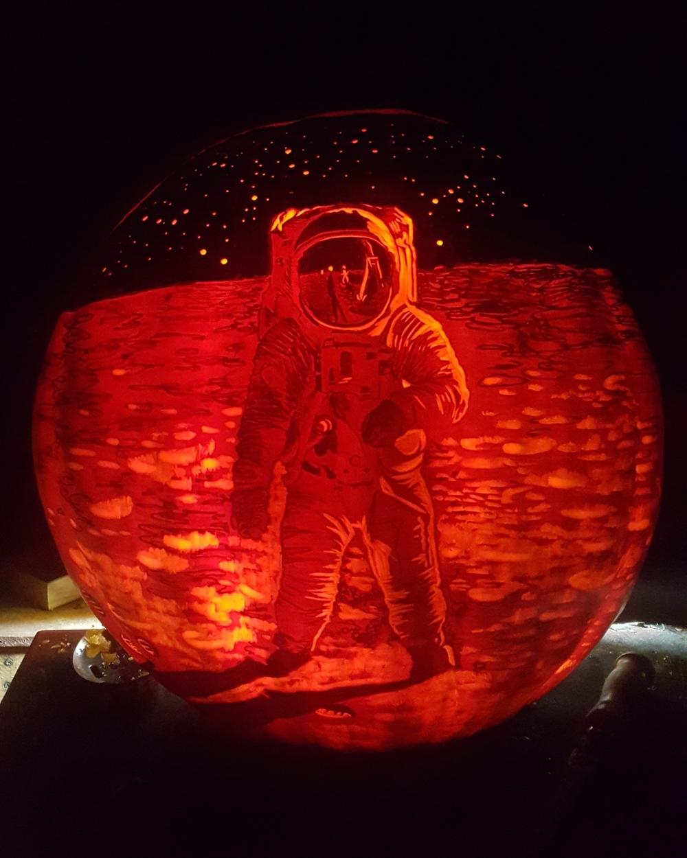 Buzz Aldrin Jack O'Lantern