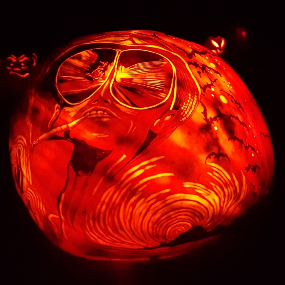 Hunter S. Thompson Pumpkin
