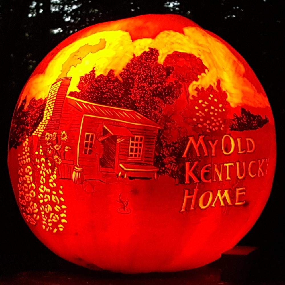 My Old Kentucky Home Pumpkin