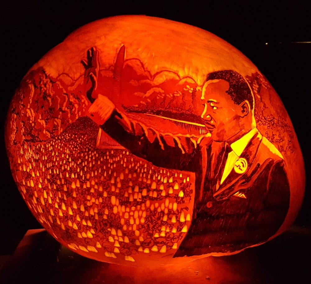Martin Luther King Jr. Pumpkin
