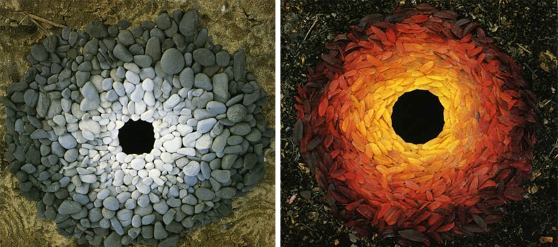 Images of sculptor Andy Goldsworthy's work