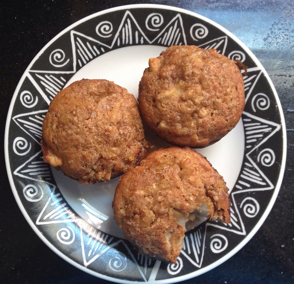 Whole wheat apple muffins - they look unassuming, but they taste so good...