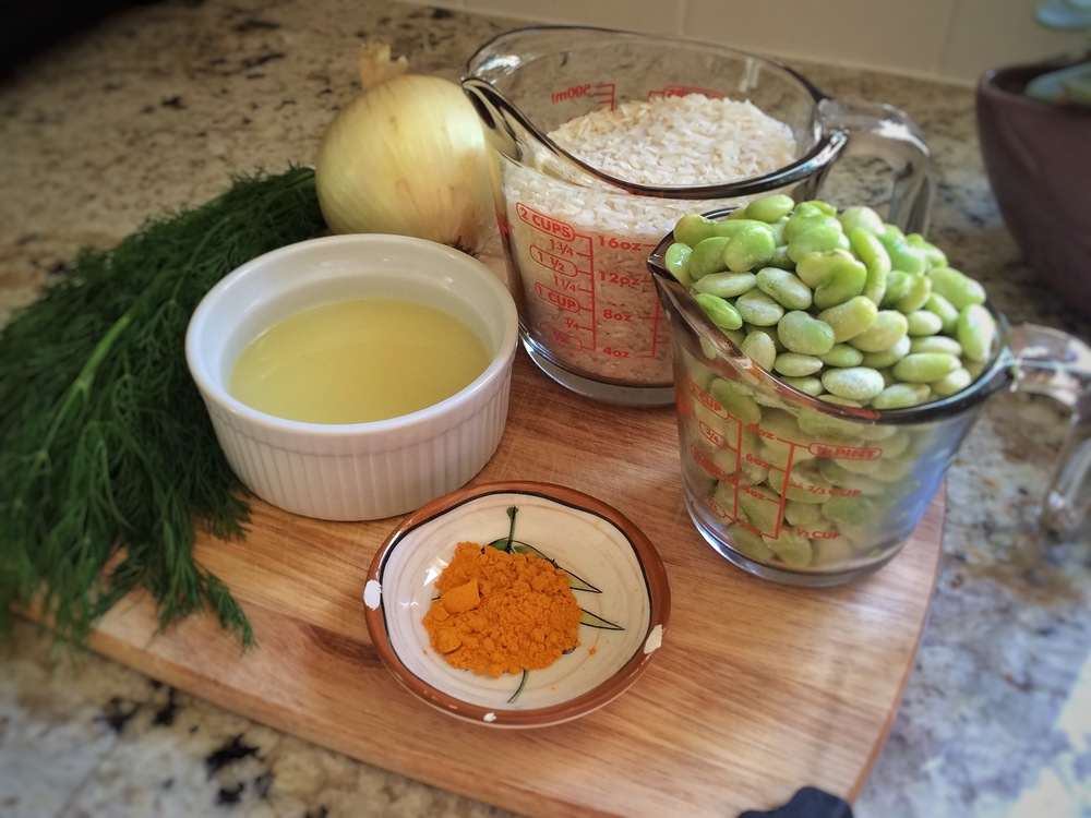 ingredients for baghli poloh