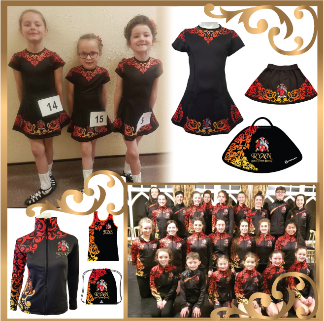 5. Create the full look with matching teamwear for studio - Let our amazing design team create a whole unique look for your school from warmups to team dresses, costume bags and accessories.