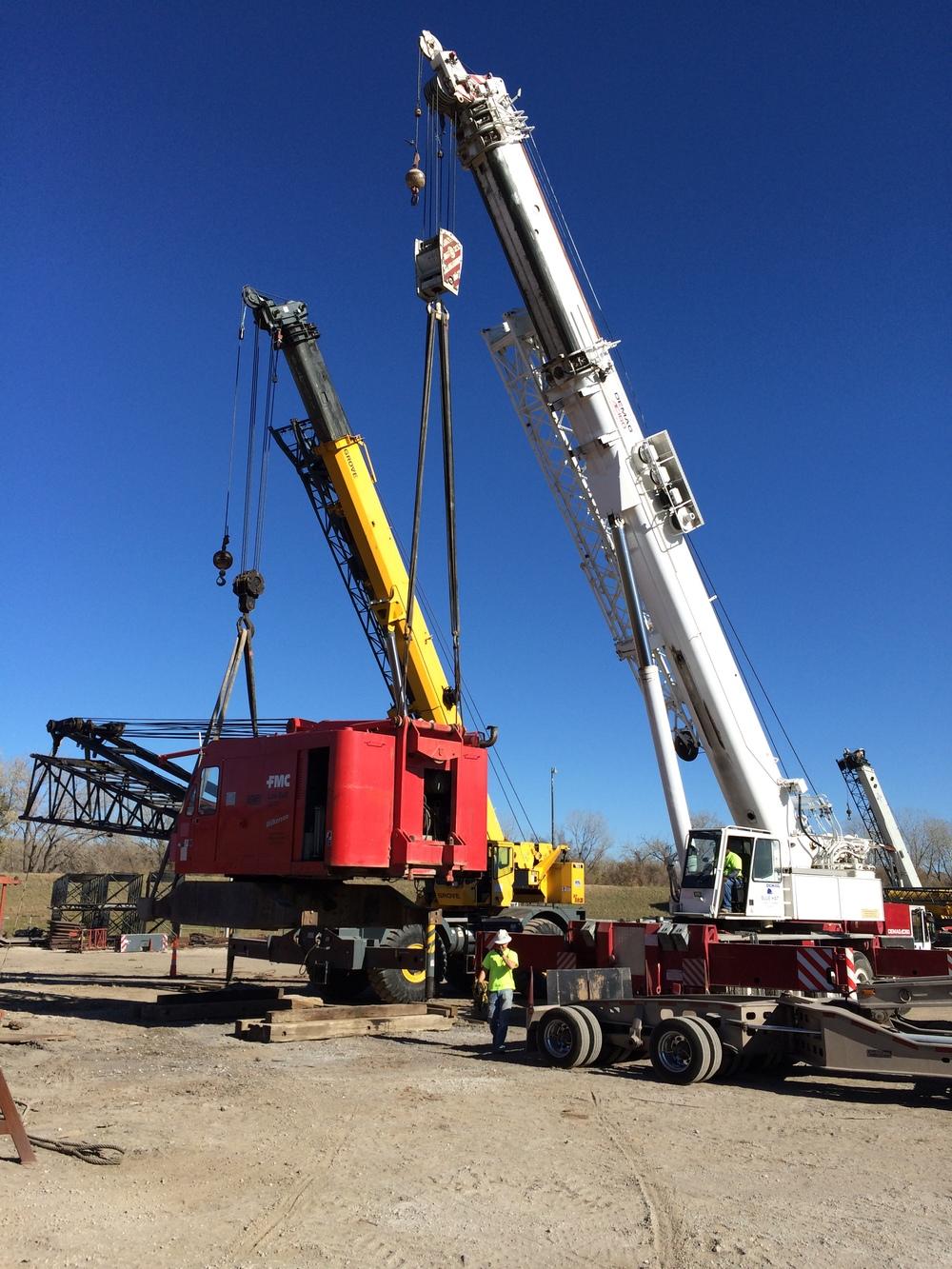 All terrain truck cranes blue hat crane for Crane grove