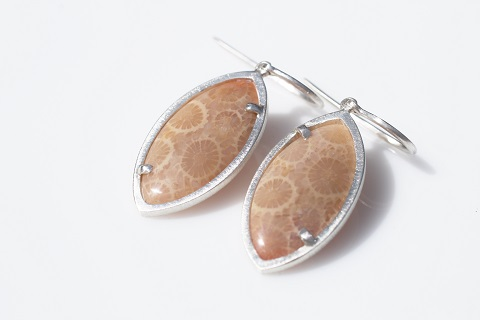 Fossil earrings - oval
