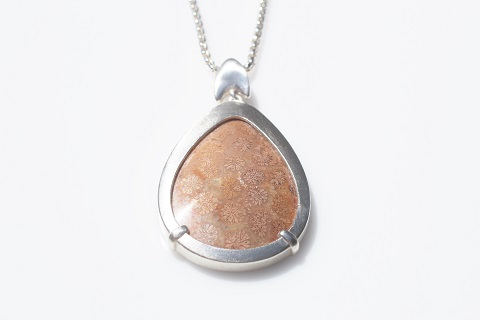 Smooth pendant - orange