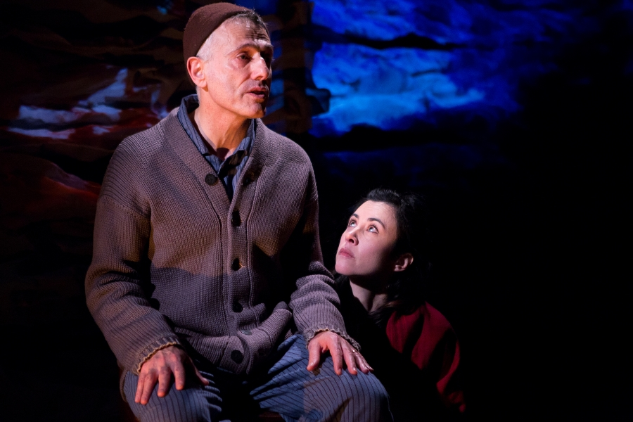 David Greenspan and Jane Cortney, photo by Hunter Canning Scenic Design, Patrick Rizzotti Costume Design, Meriwether Snipes Lighting Design, Nick Solyom Media Design, Bart Cortright