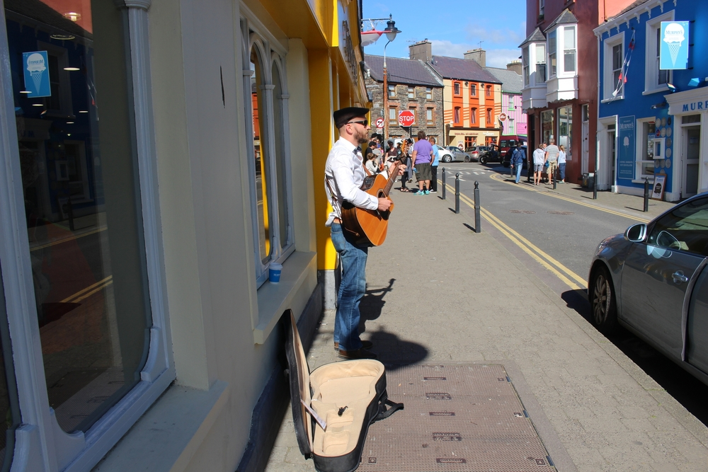 Busking On The Streets Of Dingle