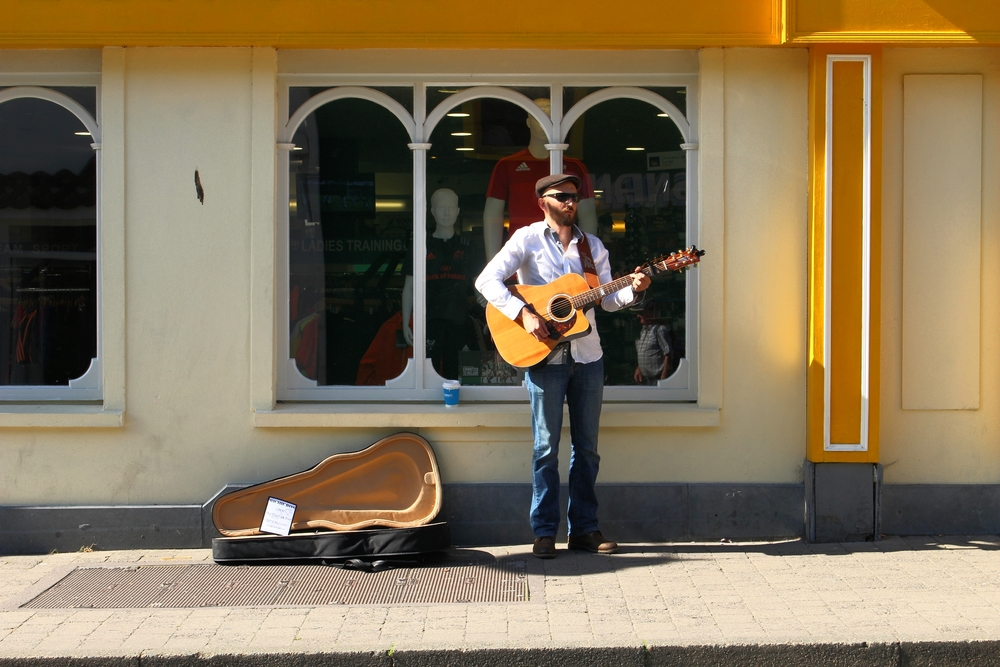 Busking On Main Street