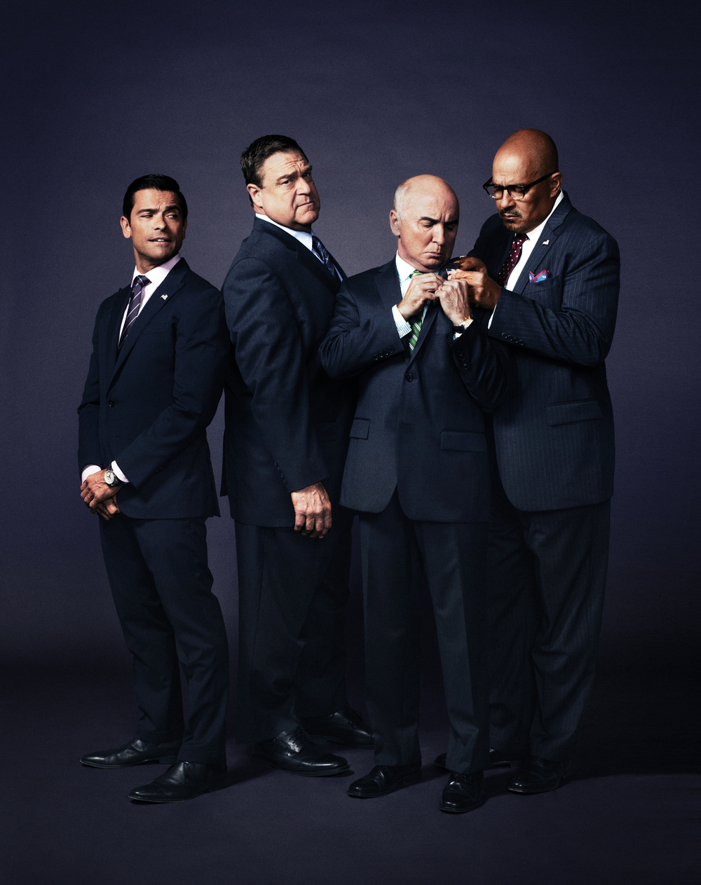Alpha House Cast - Mark Conseulos, John Goodman, Matt Malloy, Clark Johnson - NYC