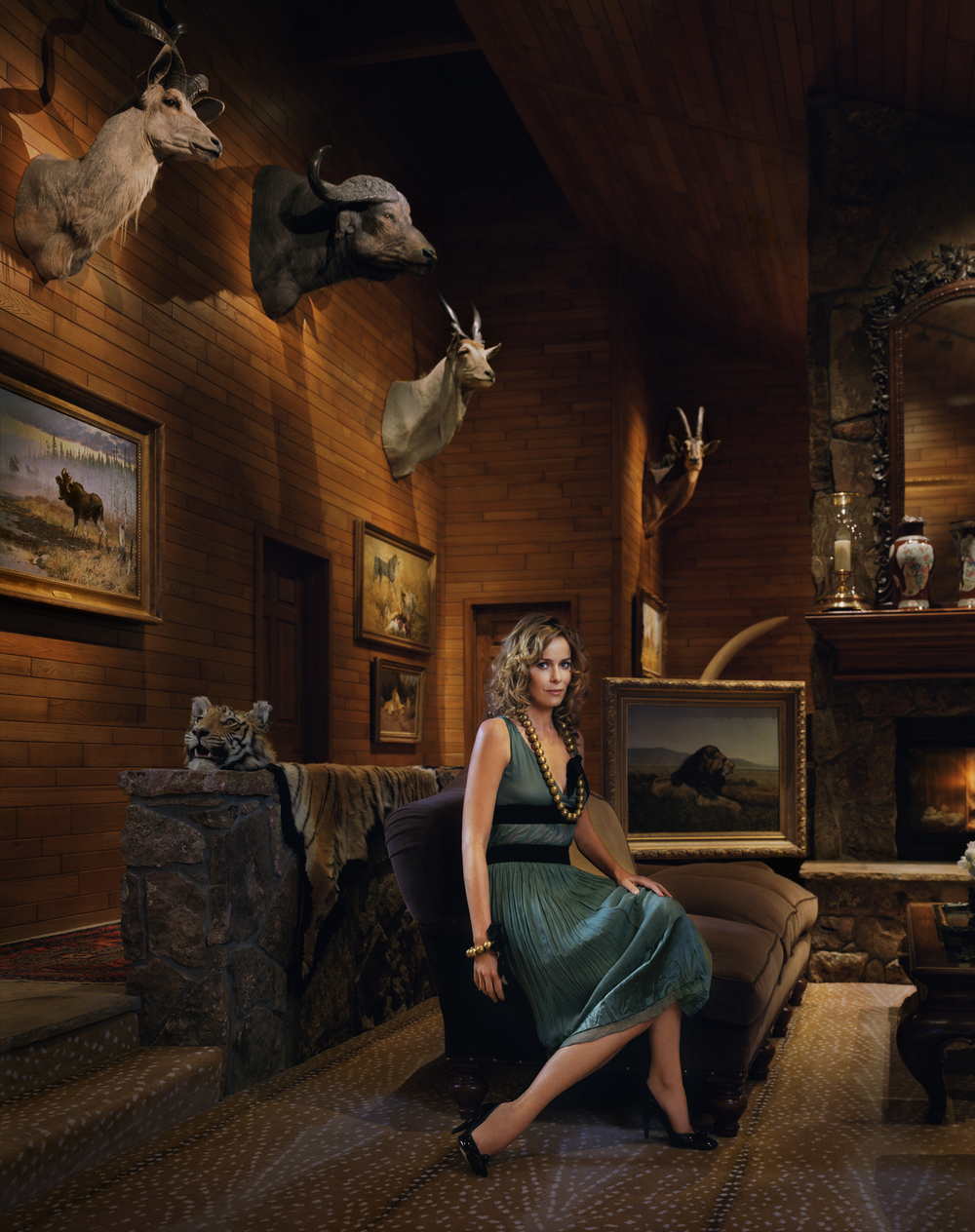 Julia Koch, wife of Koch Brother David Koch at their home in Aspen, CO