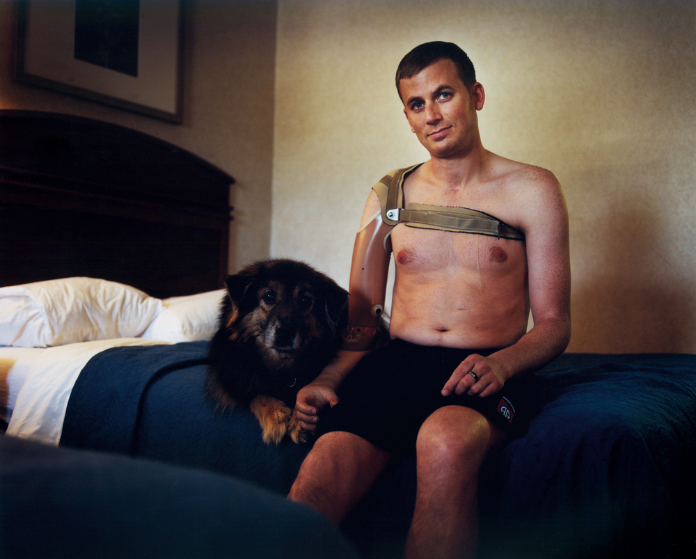 Ted Wade -Iraq War Veteran, sustained severe traumatic brain injury (TBI) and transhumeral amputation. Wade remained in a coma for 2 months - near Walter Reed Hospital - Washington, D.C.